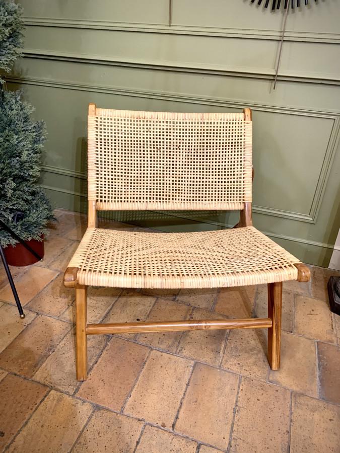 Superbe paire de fauteuils en osier