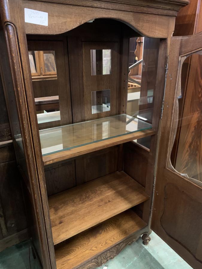 Petite vitrine néo-rustique en chêne