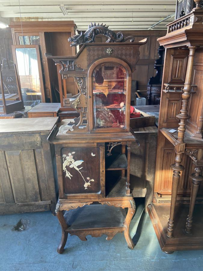 Petite bibliothèque vitrine asiatique Viardot