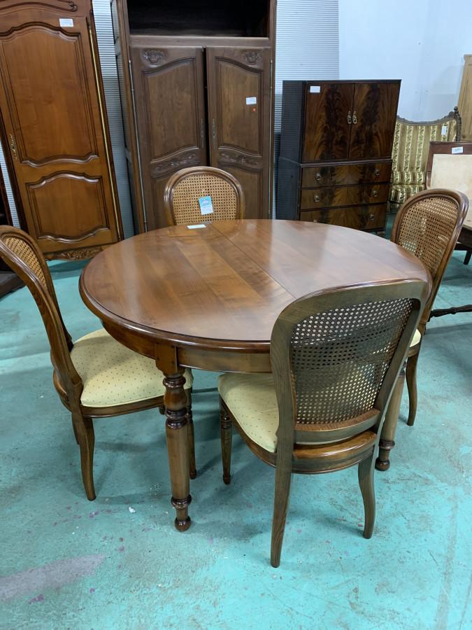 Série de 4 chaises de style Louis Philippe