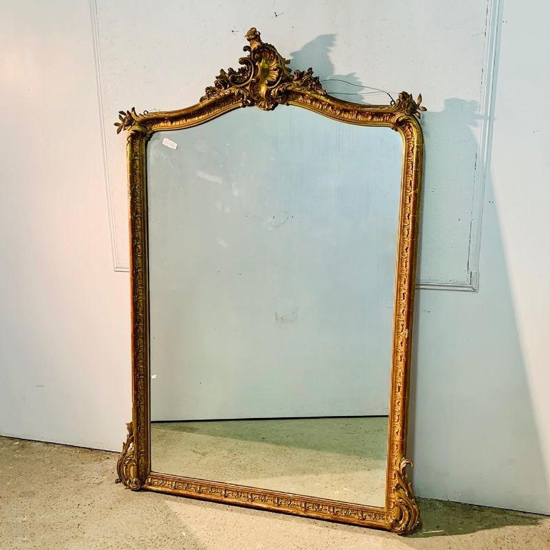 Superbe miroir en bois doré