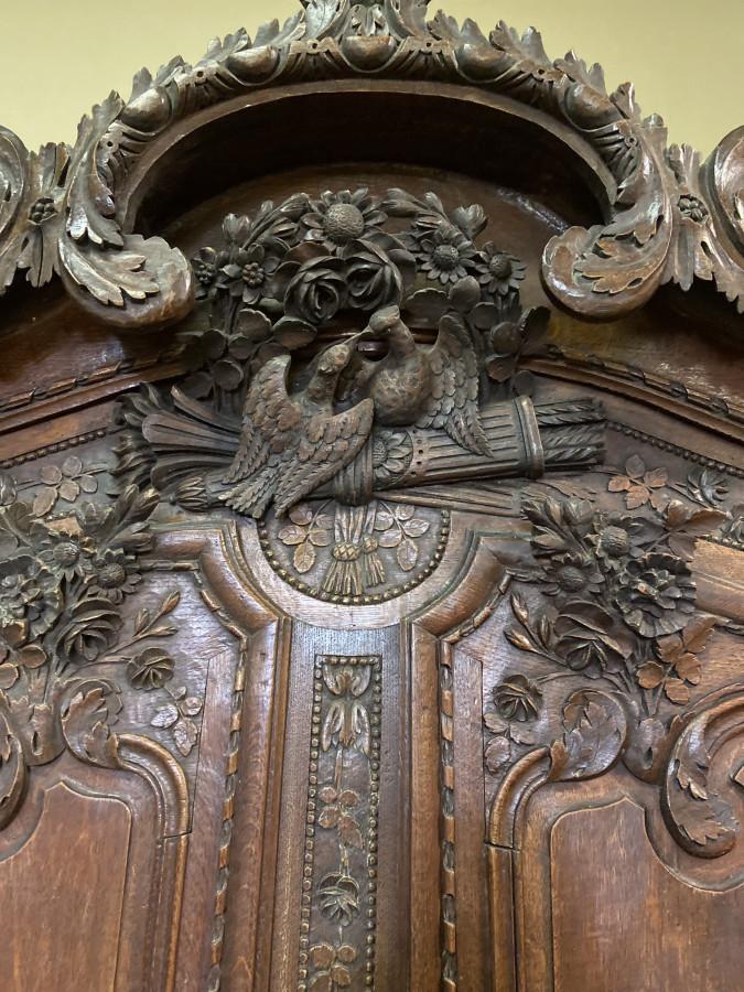 Armoire normande Fécampoise de mariage en chêne