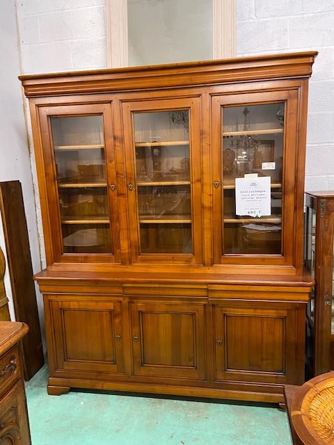 Bibliotheque style Louis Philippe en merisier