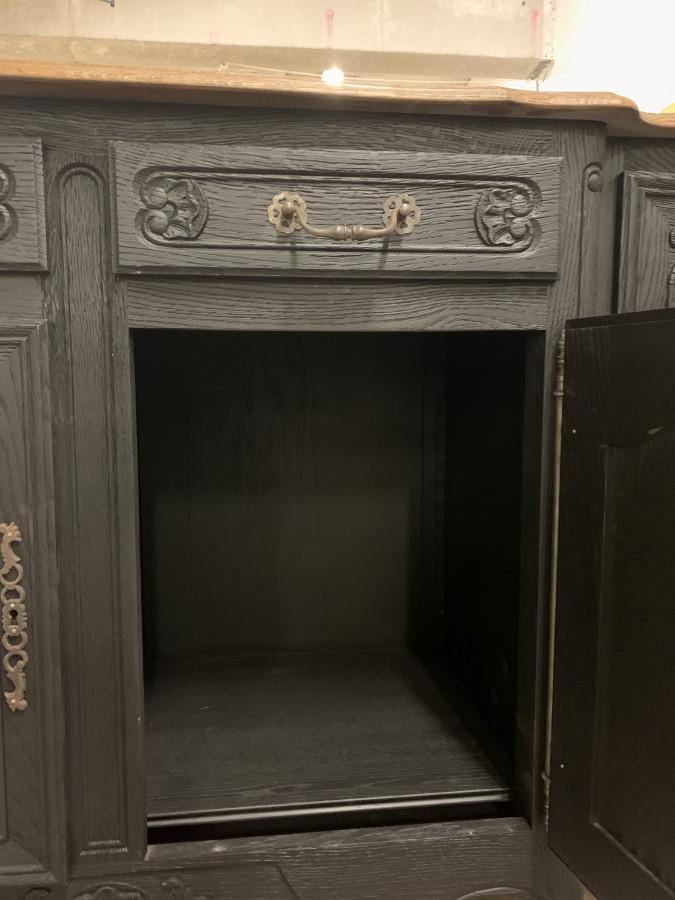 Enfilade baroque noir et bois