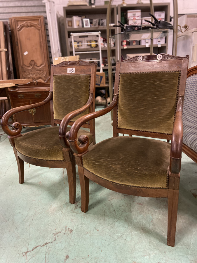 Paire de fauteuils d'époque directoire