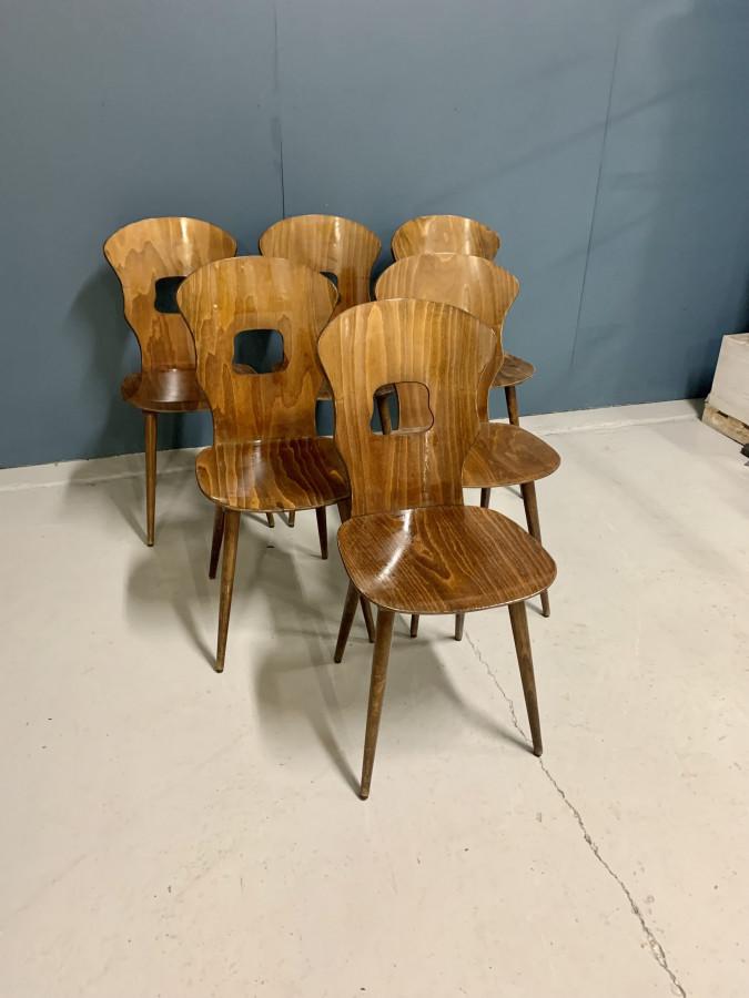 Magnifique lot de 6 chaises Baumann de la maison Jansen