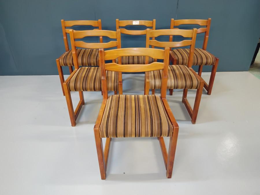 Belle série de six chaises vintage