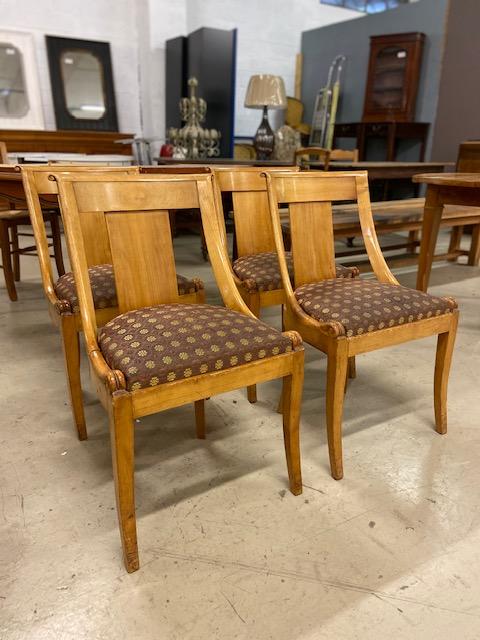 Série de 4 chaises gondoles Directoire