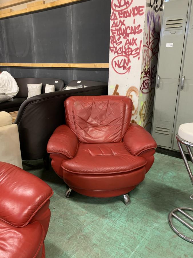 Ensemble salon canapé rouge