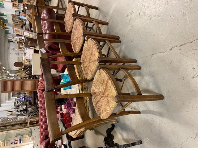 Série de 4 chaises paillées directoire