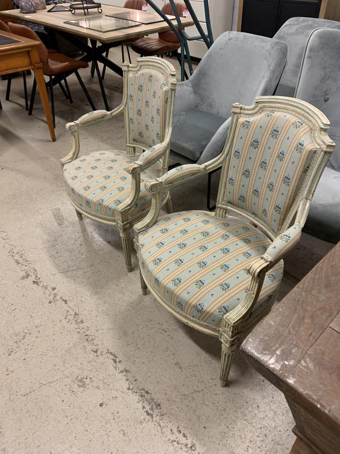 Paire de fauteuils d'époque Louis XVI